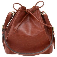 Vintage Louis Vuitton Petit Noe Brown Kenyan Fawn Epi Leather Shoulder Bag
