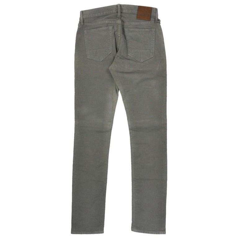 Tom Ford Men's Light Olive Green Cotton Slim Jeans