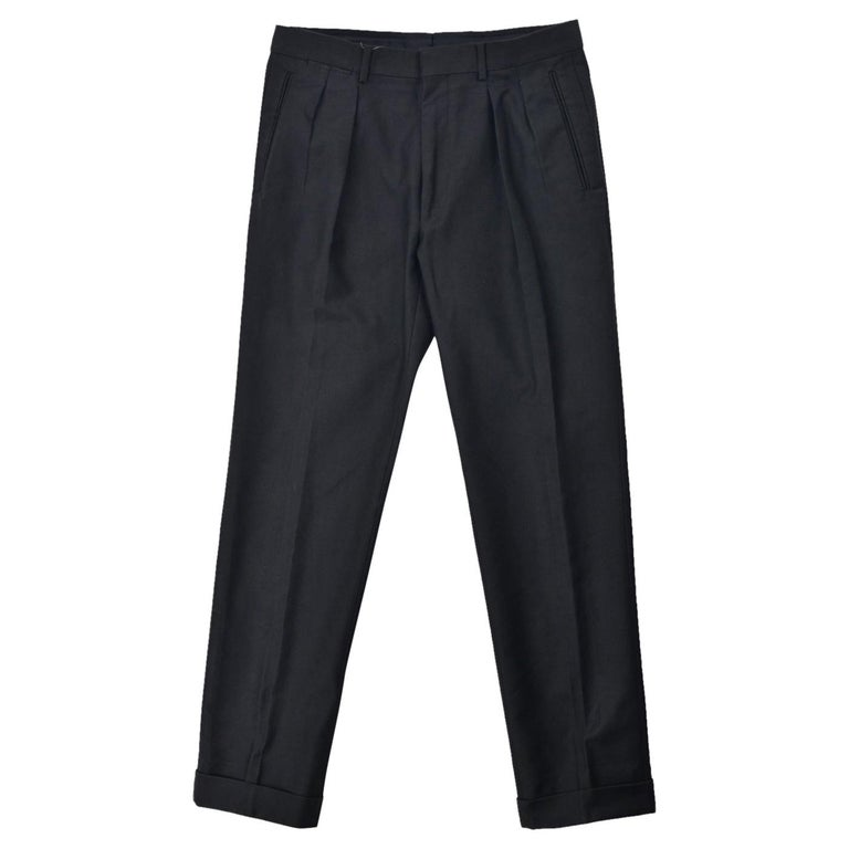 Tom Ford Men S Black Cotton Pleated Front Trousers For Sale At 1stdibs