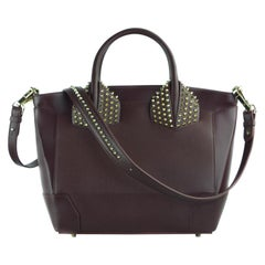 Christian Louboutin Burgundy Calfskin Large Eloise Bag