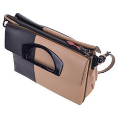 Christian Louboutin Black Tan Passage Ombre Messenger Bag