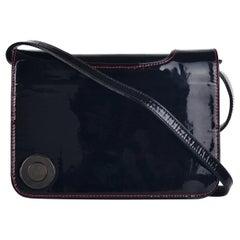 Christian Louboutin Women's Black Patent Leather Shoulder Bag