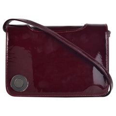 Christian Louboutin Women's Burgundy Patent Shoulder Bag