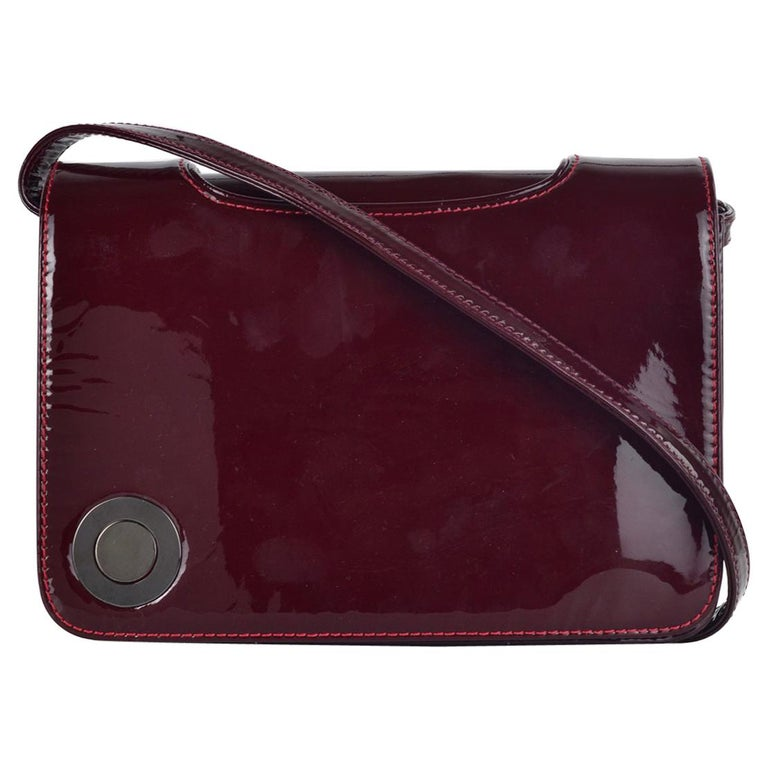 44b8c9c7de28 Christian Louboutin Women s Burgundy Patent Shoulder Bag For Sale at ...