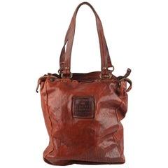 Campomaggi Teodorano Brown Leather Tote Shopping Bag