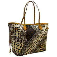 Louis Vuitton Yayoi Kusama Neverfull MM Monogram Shoulder Bag