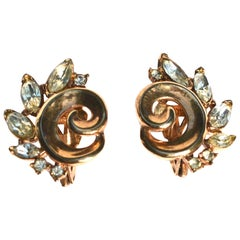 1940s Trifari Vermeil Earrings