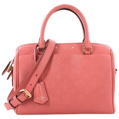 Louis Vuitton Speedy Bandouliere NM Handbag Monogram Empreinte Leather 25