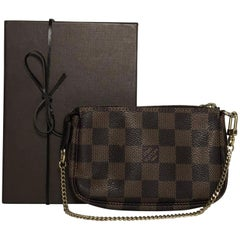 Louis Vuitton Damier Ebene Pochette Accessories Mini Wristlet