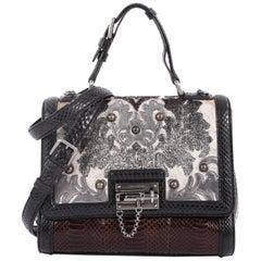 Dolce & Gabbana Monica Handbag Brocade and Python Medium