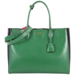 Prada Soft Bibliotheque Handbag City Calfskin Large