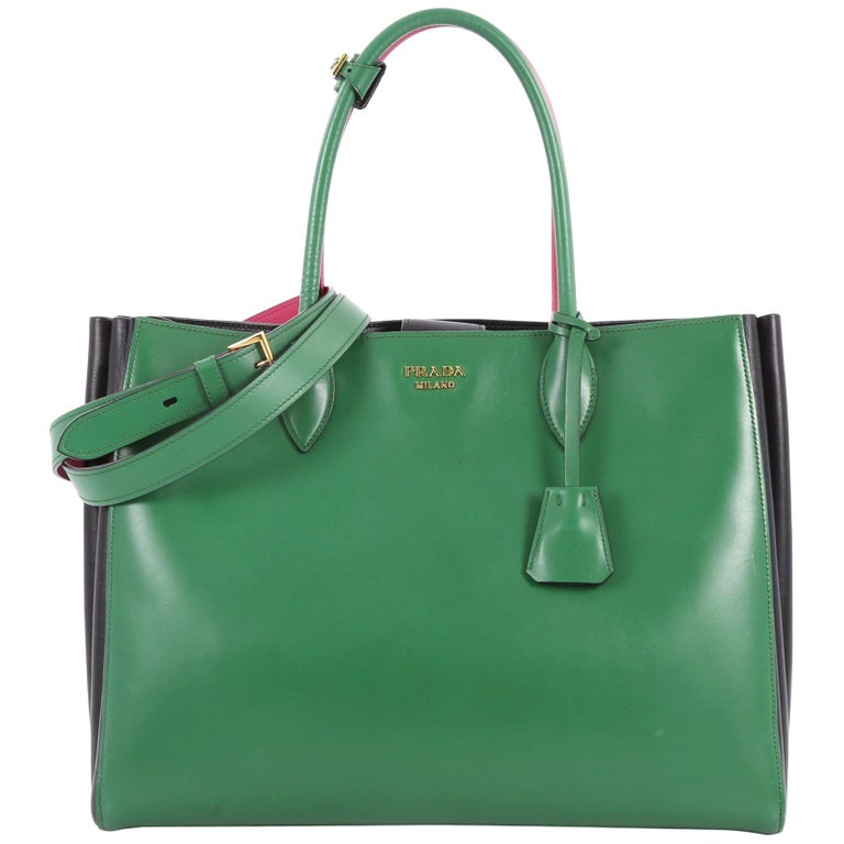 Prada Soft Bibliotheque Handbag City Calfskin Large