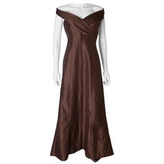 Brown Silk Vintage Gown