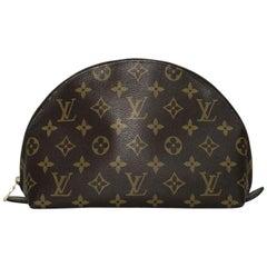Louis Vuitton Monogram Trousse Demi Ronde GM Cosmetic Bag