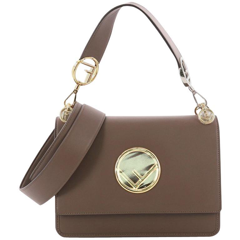 Fendi Kan I F Shoulder Bag Leather Medium For Sale