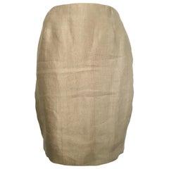 Donna Karan Gold Short Pencil Skirt, 1990s