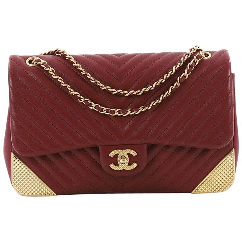 a0f220f2d37b Chanel Rock the Corner Flap Bag Chevron Leather Medium at 1stdibs