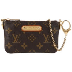 "LOUIS VUITTON c.2008 ""Pochette Milla PM"" Monogram Coated Canvas Wristlet Clutch"
