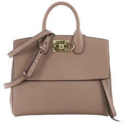 Salvatore Ferragamo Studio Satchel Leather Small