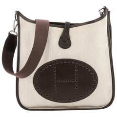 Hermes Evelyne Crossbody Gen I Toile and Leather PM