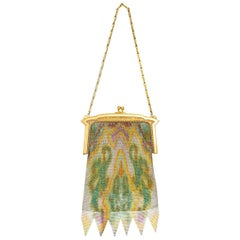 Whiting & Davis Watercolor Dresden Mesh Evening Bag, 1920s