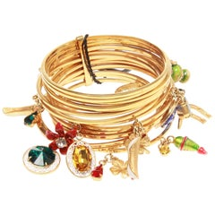 Dolce & Gabbana Charm embellished brass cuff