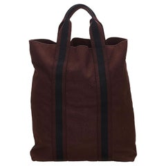 Hermes Brown x Blue Fourre Tout Besace MM