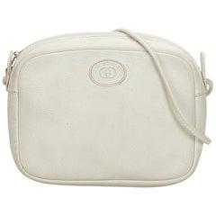 Gucci White x Ivory Leather Crossbody Bag