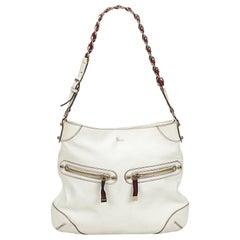 Gucci White x Multi Capri Ranch Kid Leather Shoulder Bag