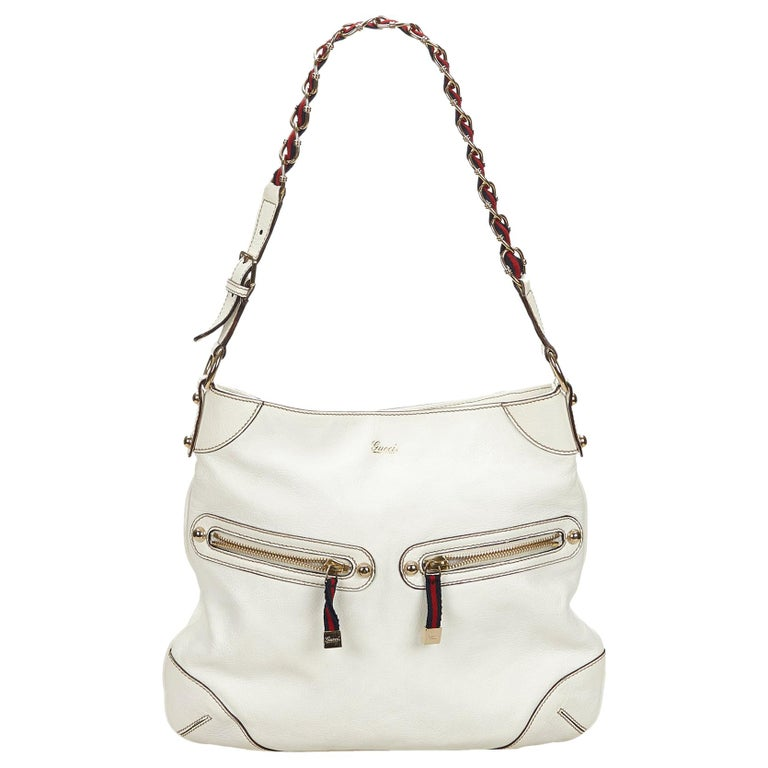 191181c251e Gucci White x Multi Capri Ranch Kid Leather Shoulder Bag at 1stdibs