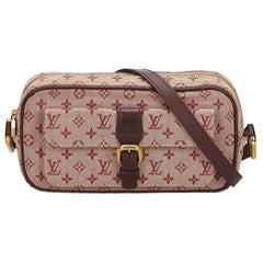 Louis Vuitton Red x Brown Monogram Mini Lin Juliette MM