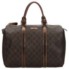 Gucci Brown x Dark Brown Guccissima Joy Boston Bag