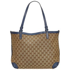 Gucci Brown Guccissima Canvas Craft Tote Bag