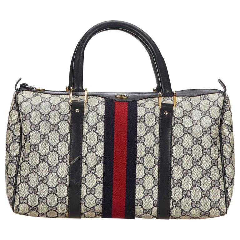 Gucci Gray x Multi Guccissima Supreme Boston Bag