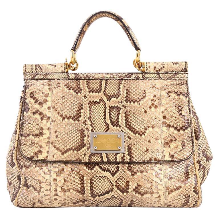 70d013505089 Dolce and Gabbana Large Miss Sicily Python Handbag at 1stdibs
