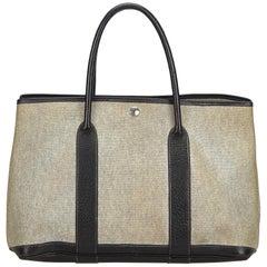 Hermes White / Ivory / Black Garden Party MM Bag