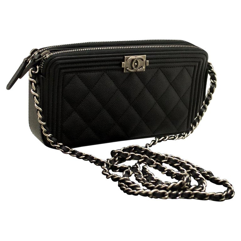 49d0ac379dbd Chanel Boy Caviar Wallet On Chain Zip Chain Shoulder Bag For Sale at ...