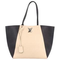 Louis Vuitton Lockme Cabas Leather Bag