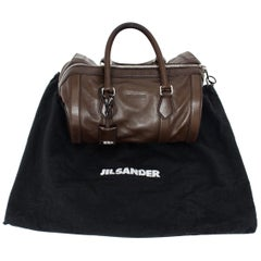 Jil Sander Brown Vintage Leather Handbag