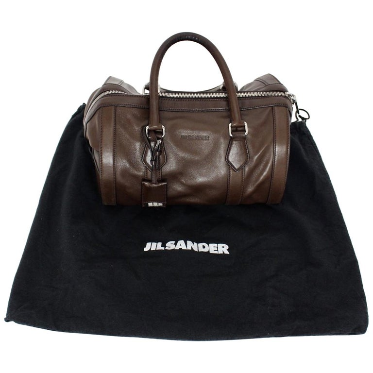 Jil Sander Brown Vintage Leather Handbag For