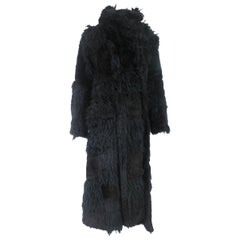 Comme des Garcons Patchwork Twisted Faux Fur Coat 2002 Collection