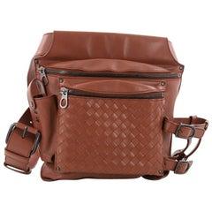 Bottega Veneta Zip Pocket Waist Bag Leather with Intrecciato