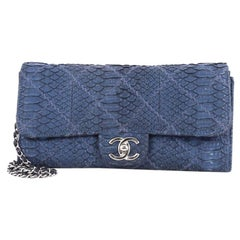 Chanel Ultimate Stitch Chain Wallet Quilted Matte Python Long