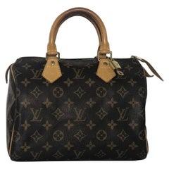 Louis Vuitton Monogram Speedy 25 Satchel Handbag