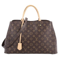 Louis Vuitton Montaigne Handbag Monogram Canvas GM