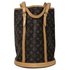 Louis Vuitton Monogram Bucket GM Shoulder Handbag