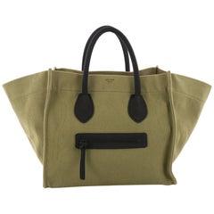 Celine Phantom Handbag Canvas Large