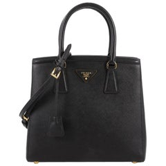 Prada Convertible Parabole Tote Saffiano Leather Small
