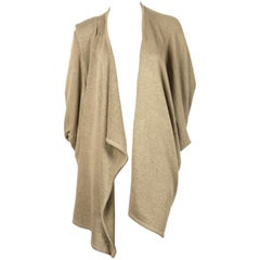 Issey Miyake tan draped cardigan jacket, 1980s