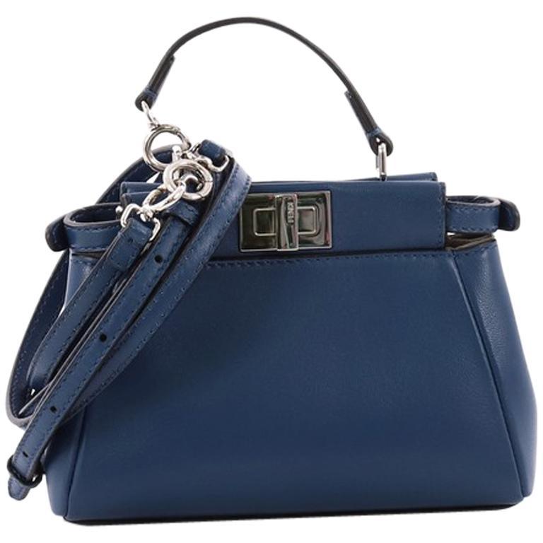 Fendi Peekaboo Handbag Leather Micro For Sale